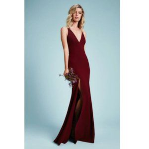 NEW Dress the Population Iris Crepe Maxi Gown